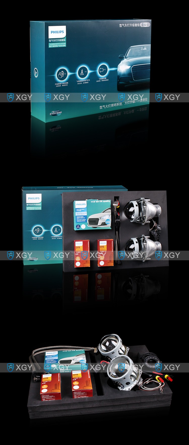 OEM germany hid xenon Glory Version kit D1S 85415XVC1 bulb and D1S ballast and G5 projector lens headlight auto parts