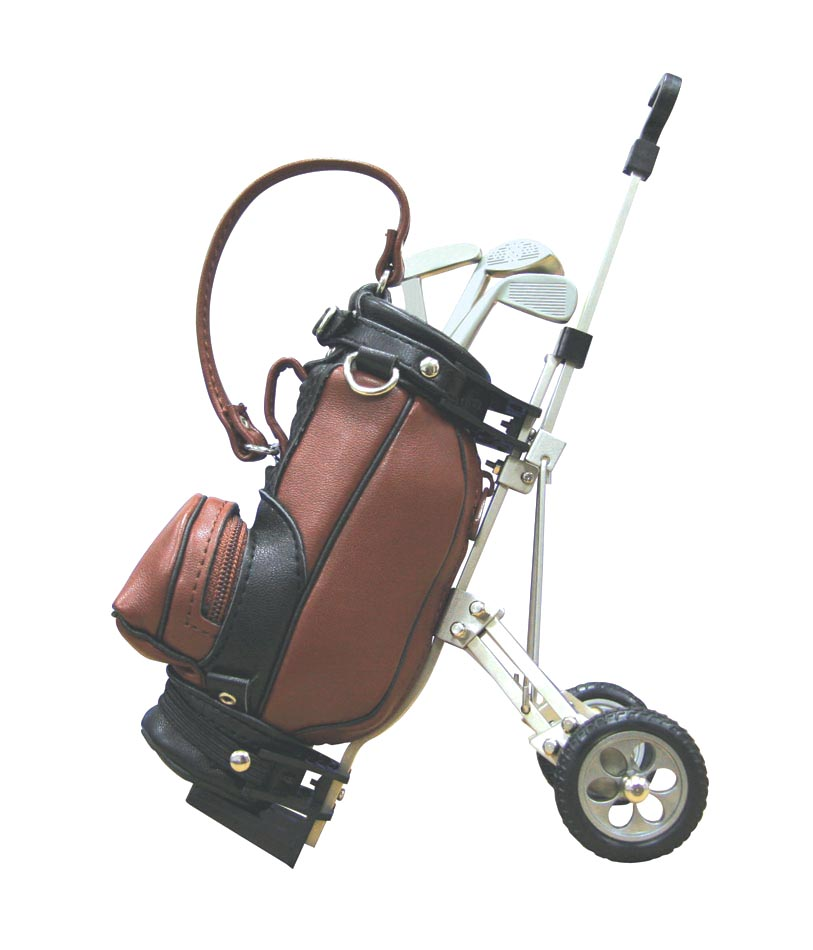 2016 New Pu Leather Golf Cart Pen Holder/Bag With Pens