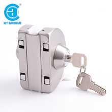 New style cylinder key stainless steel glass door lock