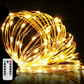 Party Supplies Promotional Waterproof Remote Control Battery Operated Copper Wire LED String Lights
