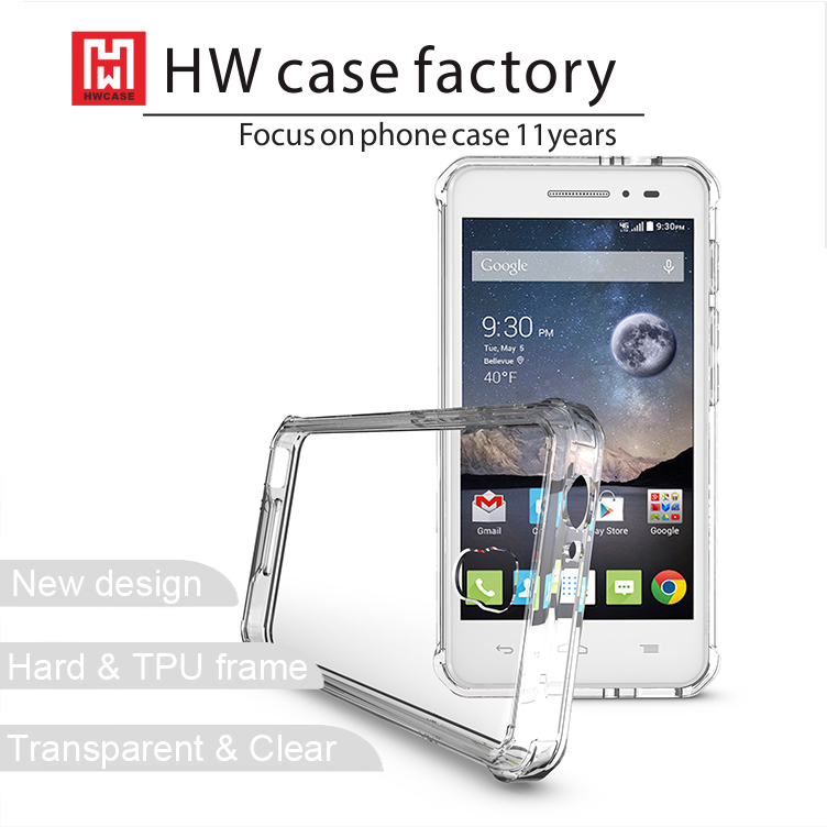 2016 Hot New Model Clear Gel TPU Mobile Phone Case For Alcatel Pop 4 Cover