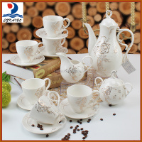 Top selling series 17pcs ceramic tea set with good reputation