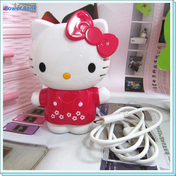 Cute power bank for hello kitty power bank 5200Mah Christmas gift Cat