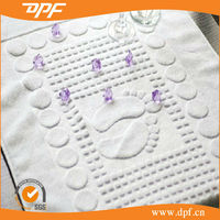 Premium Jacquard Pattern Available Hotel Used White Cotton Foot Bath Mat