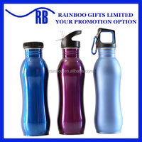 Hot selling 300ml-750ml cheap aluminium sport metal water bottle with straw