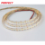 High density led strip cct 1800k warm white amber colored led light stripes with 10mm nonwaterproof connector