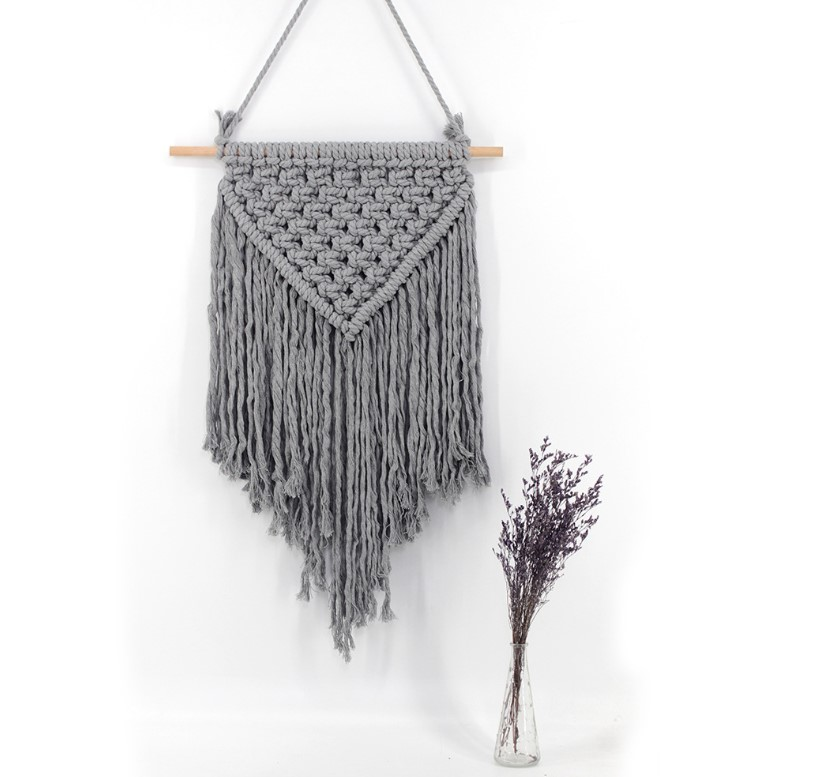 Classical Handmade Grey Color Home Decoration Macrame <strong>Wall</strong> Hanging