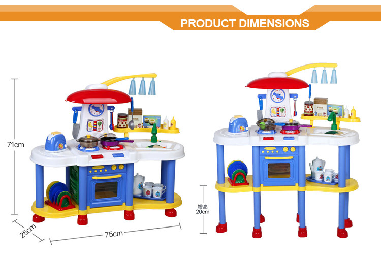 ALIBABA EXPRESS Plastic delux big size new items set kids play kitchen toy