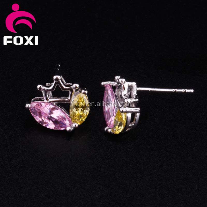 Fashion Hot Sale Crystal Wedding Earring Jewelry With White gold plated