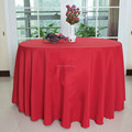 Red colourTop quality and cheaper price 100% polyester table linen /polyester table cloth