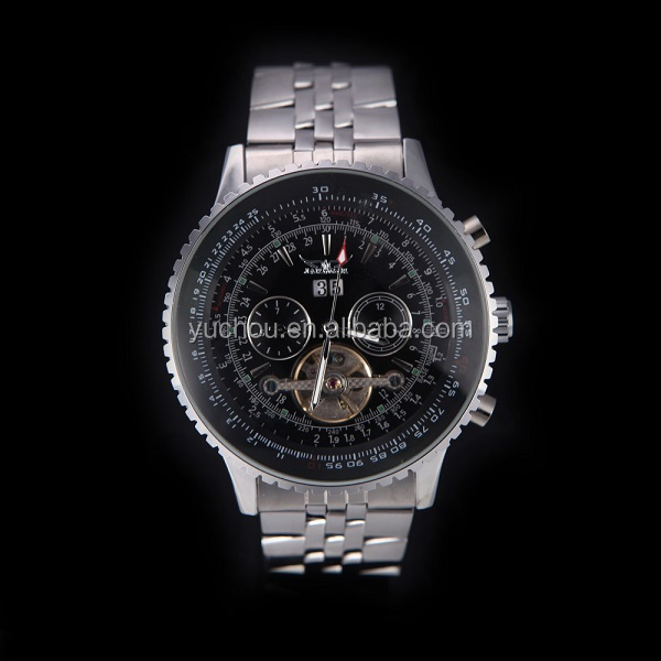 Mens Stainless Steel Analog Automatic Jaragar Mechanical Watch