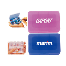 Pantone Color Solid and Transparent 6 compartemnts Pill Case