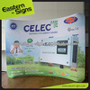 Custom logo printed portable E-Z up exhibition stand