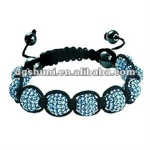 Shamballa Tanzanite 9x12mm Crystal Disco Ball Bracelet From