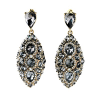 Indian Decoration Super Deals Hot Exaggerated Crystal Pendants Fashion Earrings