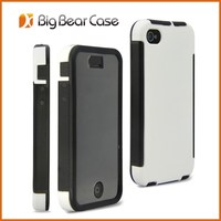 New design with screen protector mobile phone cover case for iphone4 case