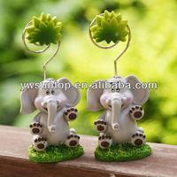 Baby elephant design place card holder baby shower favors