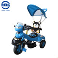 2016 newest mother baby stroller bike, metal tricycles for childrens, with music,light and push bar