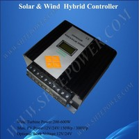 MPPT Wind Solar Hybrid Charge 12V/24V Automatic Controller with LCD for Wind Turbine 300W