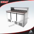 3 Doors Restaurant And Hotel Commercial Cooling Table For Salad