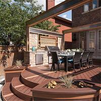 wpc garden composite wood slide door for toilet price engineered hardwood flooring chevron