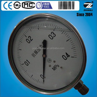 150mm 6 inch stainless steel case oil filled 0-0.4mpa shockproof hydraulic oil pressure gauge for customize