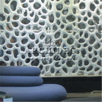 2016 amazing stylish decorative 3d room divider grille panels