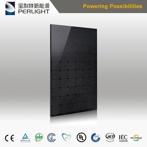 Solar Panel Perlight All Black Think Black Mono 270w 280w 290w Solar Module for Solar Panel System with TUV