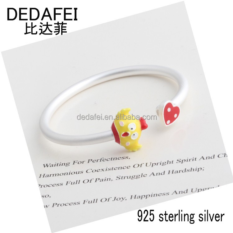 DEDAFEI Manufacturers wholesale Popular chicken children's bracelet lovely fashion 925 sterling silver cartoon jewelry