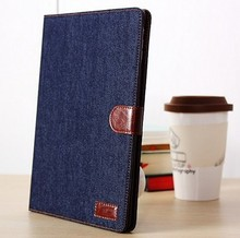 2013 Fashion Jeans wallet leather case for ipad air