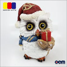 New Product Festival Resin Craft Owl Decoration Animated Christmas Figures