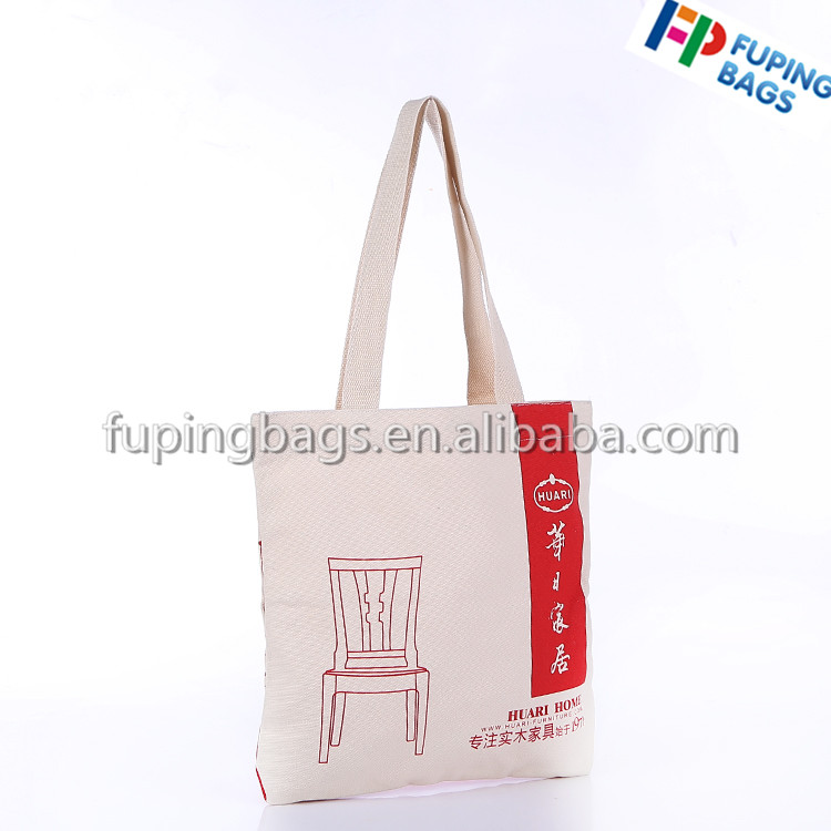 cotton handbag canvas tote bags with cartoon printed logo