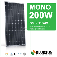 Best sell bluesun high efficiency low price Mono 200W import solar panels for home use