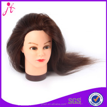 Factory selling 100% human hair training doll head