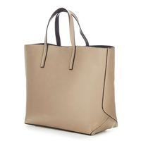 Fashion Woman Leather Designer Beige Shoulder Tote Handbags On Sale