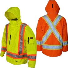 Night Work Safety Waterproof reflective rain coat