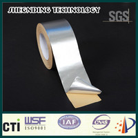 Air conditioner! 45um wrap roof heat insulation Release paper SIS-25 Synthetic Rubber Aluminum Foil Tape