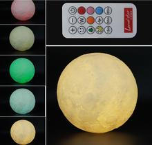 3D print creative novelty gift moon lamp USB LED Night Light 3d moon lamp manufacturer with customized size