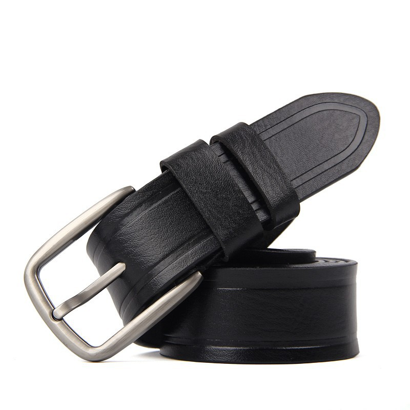 High quality genuine plain leather belt, mens belt manufacturer