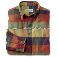 Man flannel shirts casual checks flannel shirts double brushed flannel shirt for man