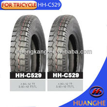 hot sale tricycle tire 4.50-12 tricycles with rubber tires