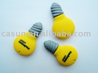Custom soft pvc lamp shape usb flash memory 2GB 4GB 8GB