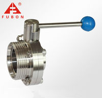Stainless steel threaded/welded butterfly valve made in China