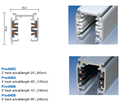 Surface or recessed 3 phase 4 wires architectural track fitting