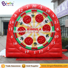 Red giant inflatable soccer dart board for carnival game