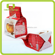 Eco Friendly Plastic Packaging For Korean Citron Tea Valve Wrapping Stand Up Pouch