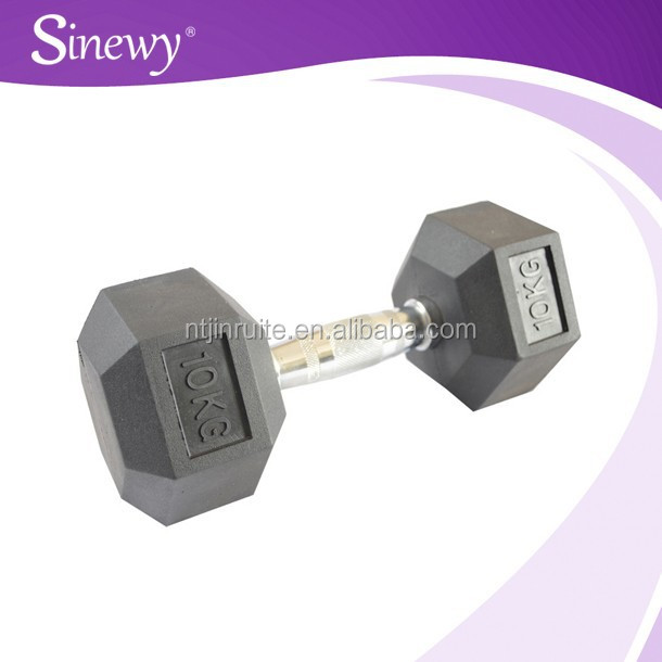 2015 New Rubber Coated Dumbbell for sale