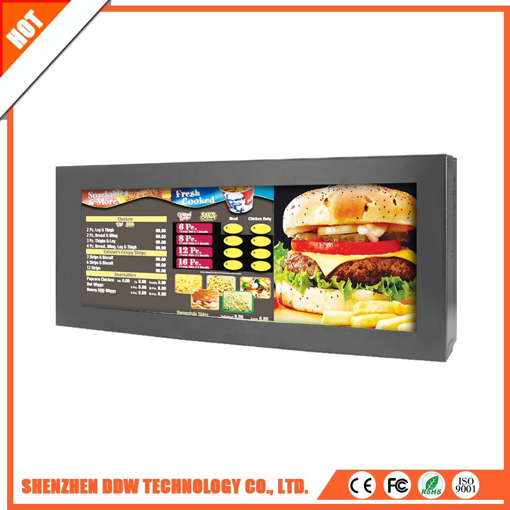 Wholesale new ultra Wide stretched Bar LCD advertising display in DDW
