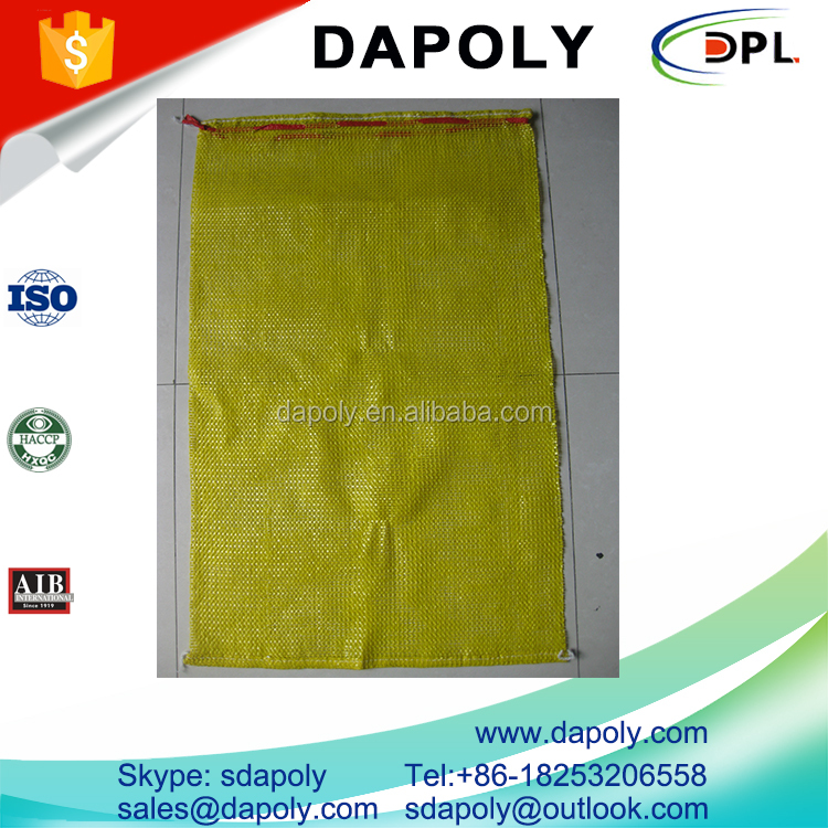 Accept Custom Order vegetables potato firewood pp mesh bag with drawstring