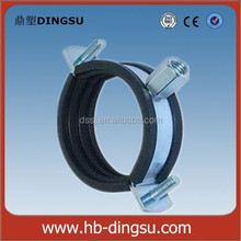 Two Screws Ground Rubber Galvanized Pipe Connection Clamp